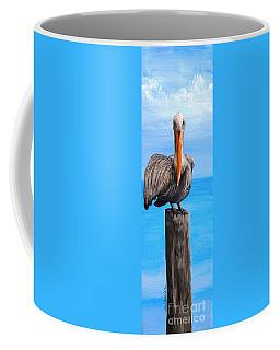 Pelican On Pier Coffee Mug
