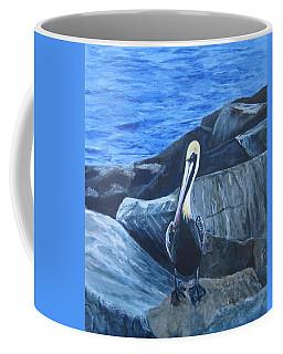 Pelican On The Rocks Coffee Mug