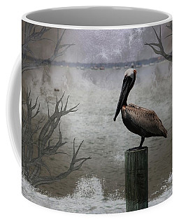 Pelican Perch,ocean,sarasota, Coffee Mug