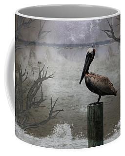 Pelican Perch,ocean,sarasota, Coffee Mug by Athala Carole Bruckner