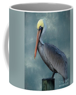 Coffee Mug featuring the photograph Pelican Portrait by Benanne Stiens