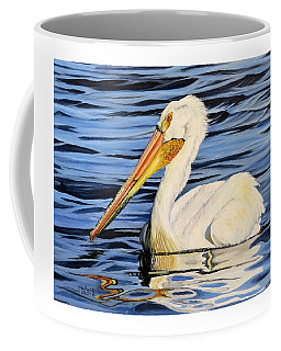 Pelican Posing Coffee Mug by Marilyn McNish