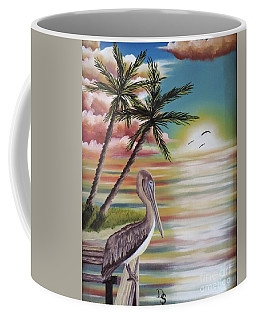 Pelican Sunset Coffee Mug by Dianna Lewis