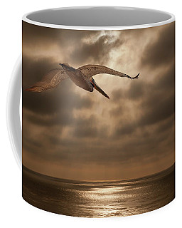 Pelican Sunset Coffee Mug