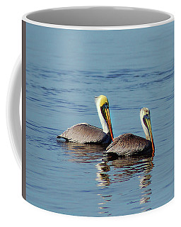 Coffee Mug featuring the painting Pelicans 2 Together by Michael Thomas