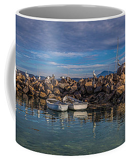 Pelicans At Eden Wharf Coffee Mug
