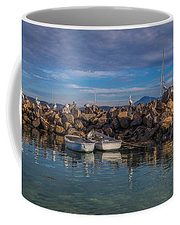 Pelicans At Eden Wharf Coffee Mug