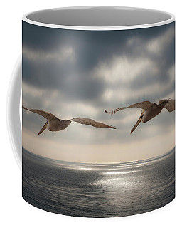 Pelicans At Sea Coffee Mug