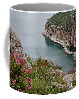 Coffee Mug featuring the photograph Peloponnese Peninsular by Shirley Mitchell