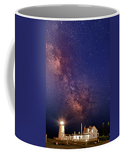 Pemaquid Point Lighthouse And The Milky Way Coffee Mug