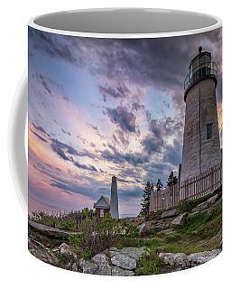 Pemaquid Point Lighthouse At Sundown Coffee Mug