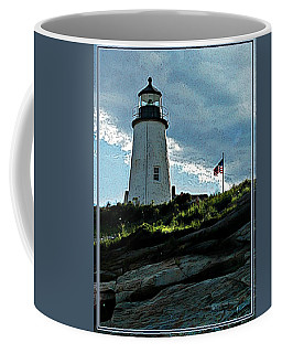 Coffee Mug featuring the photograph Pemaquid Point Lighthouse by Joy Nichols