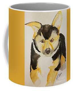 Coffee Mug featuring the painting Pembrooke Welsh Corgi Pup by Maria Urso