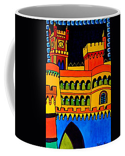 Coffee Mug featuring the painting Pena Palace Portugal by Dora Hathazi Mendes