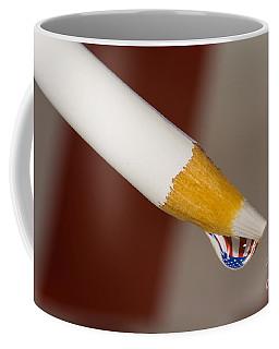 Pencil Flag Drop Coffee Mug