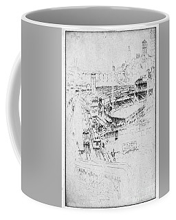 Coffee Mug featuring the drawing Pennell Polo Grounds 1921 by Granger