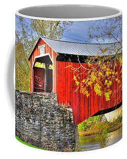 Pennsylvania Country Roads - Dellville Covered Bridge Over Sherman Creek No. 13 - Perry County Coffee Mug