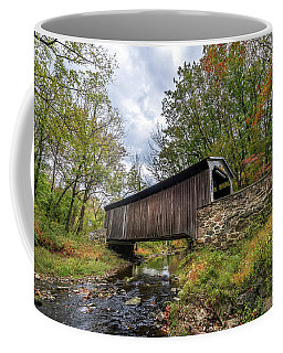 Pennsylvania Covered Bridge In Autumn Coffee Mug