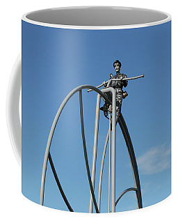 Coffee Mug featuring the photograph Penny Farthing On High by Nareeta Martin