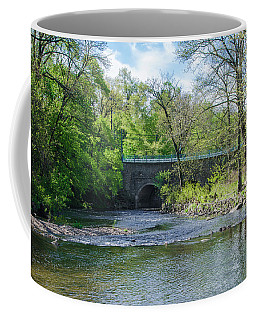 Coffee Mug featuring the photograph Pennypack Creek Bridge Built 1697 by Bill Cannon