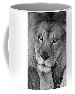 Pensive Black And White Coffee Mug