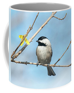 Pensive Chickadee Coffee Mug