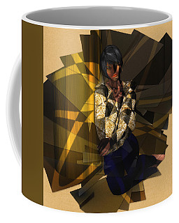 Pensive Woman Coffee Mug