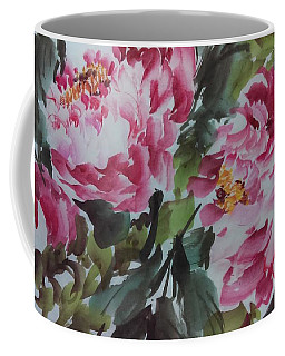Coffee Mug featuring the painting Peoney20161229_6 by Dongling Sun