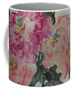 Coffee Mug featuring the painting Peoney20161230_6246 by Dongling Sun