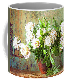 Peonies In A Vase Coffee Mug
