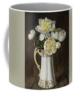 Peonies In Fluted Japanese Coffeepot Coffee Mug