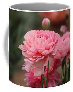 Peony Pink Ranunculus Closeup Coffee Mug