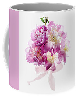 Coffee Mug featuring the photograph Peony Pink Squared by Rebecca Cozart
