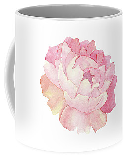 Peony Watercolor  Coffee Mug