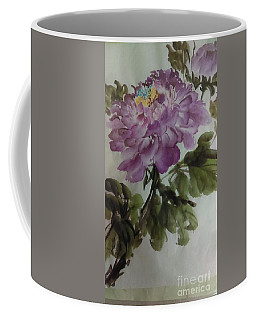Coffee Mug featuring the painting Peony20170126_1 by Dongling Sun