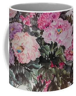 Coffee Mug featuring the painting Peony20170126_2 by Dongling Sun