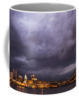 Coffee Mug featuring the photograph Peoria Dramatic Skyline by Andrea Silies