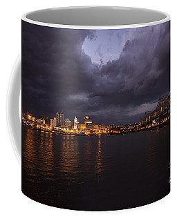 Peoria Stormy Cityscape Coffee Mug by Andrea Silies