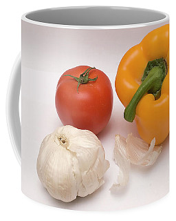 Pepper, Tomato And Garlic Coffee Mug