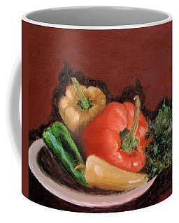 Peppers And Parsley Coffee Mug by Jamie Frier