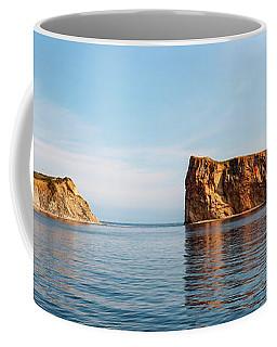 Coffee Mug featuring the photograph Perce Rock At Gaspe Peninsula by Elena Elisseeva