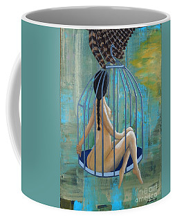 Perceptions Of The Lady In The Birdcage Coffee Mug