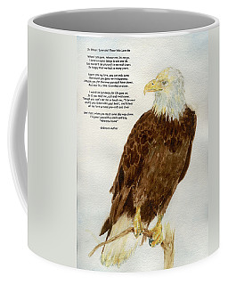 Perched Eagle- With Verse Coffee Mug by Andrew Gillette