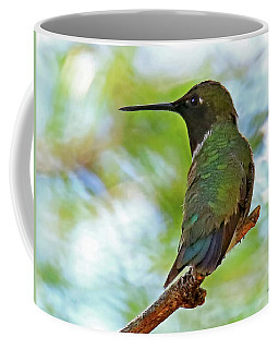 Perched Hummingbird Coffee Mug