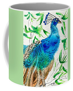 Perched Peacock I Coffee Mug