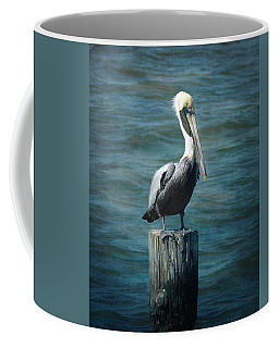 Perched Pelican Coffee Mug by Carla Parris