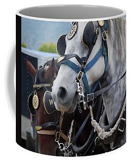 Coffee Mug featuring the photograph Percheron Horses by Theresa Tahara