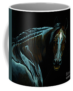 Percheron Mare In The Moonlight Coffee Mug