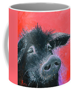 Percival The Black Pig Coffee Mug by Jan Matson