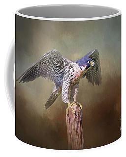 Peregrine Falcon Taking Flight Coffee Mug